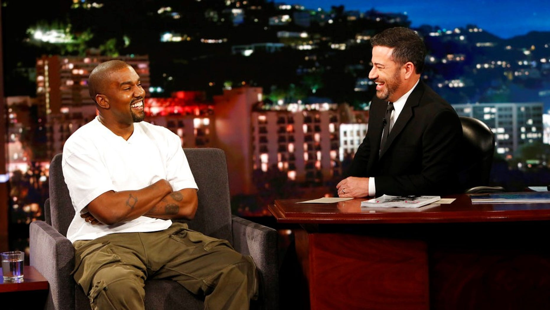 Kanye West explained the long pause he took when host Jimmy Kimmel asked him why the rapper thought President Trump cared about black people.