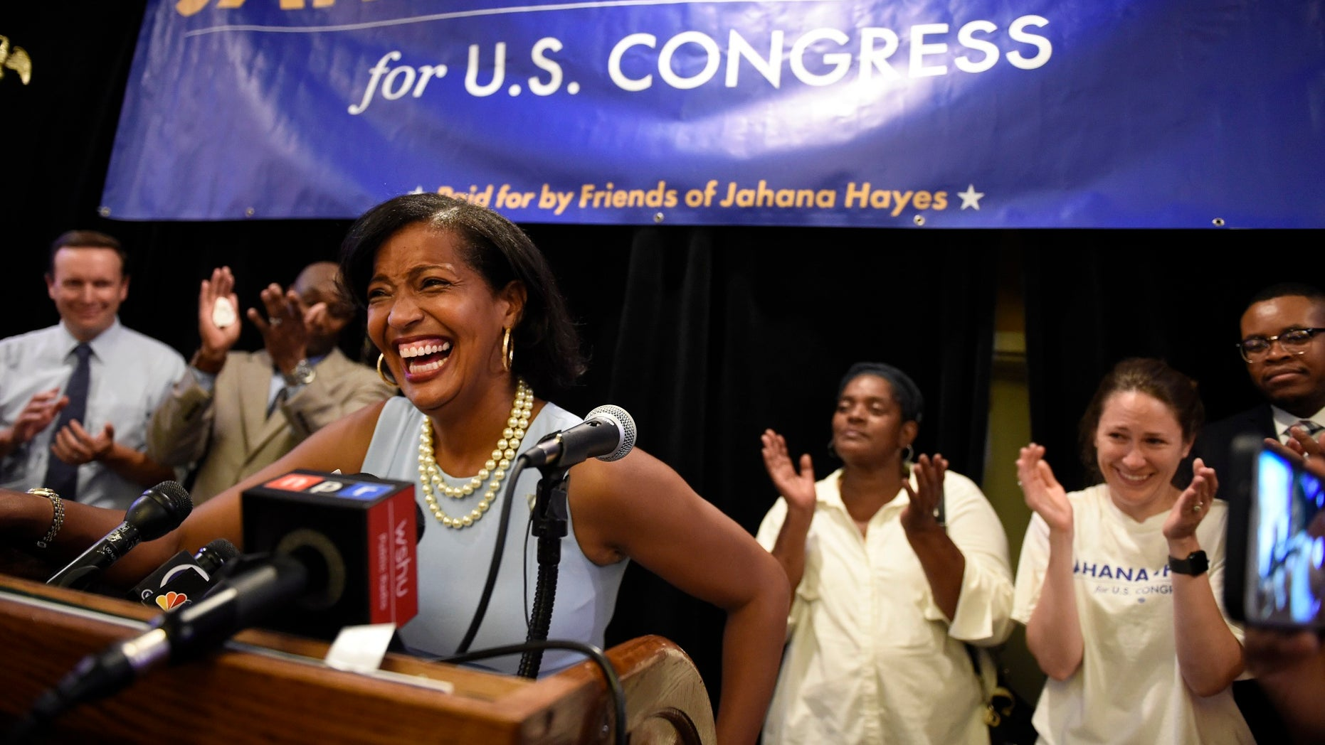 Jahana Hayes wins the Democratic primary in Connecticut's 5th District. A former National Teacher of the Year recipient, Hayes defeated a veteran politician in the primary.