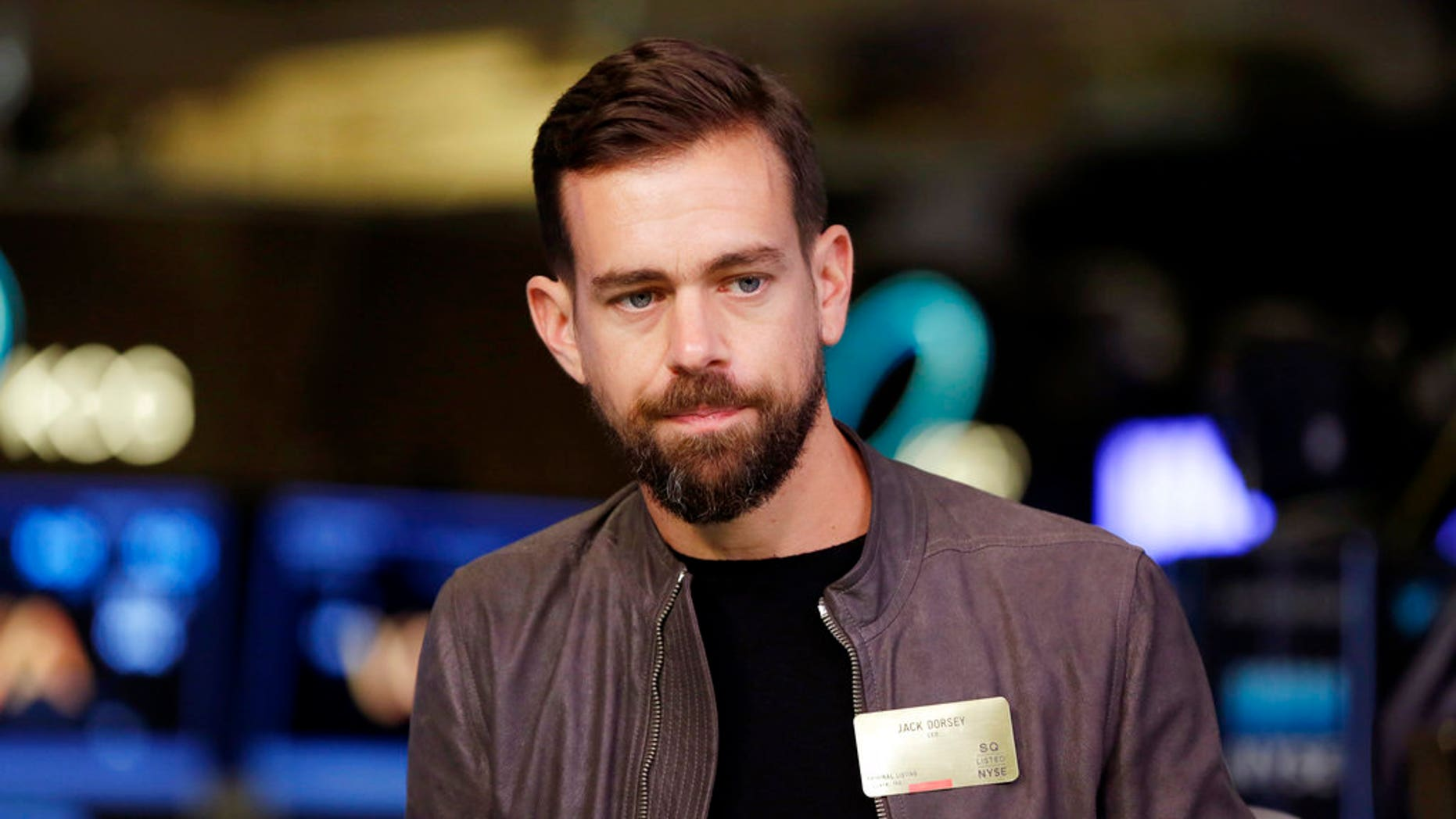 Twitter CEO Jack Dorsey is seen at the New York Stock Exchange, Nov. 19, 2015.