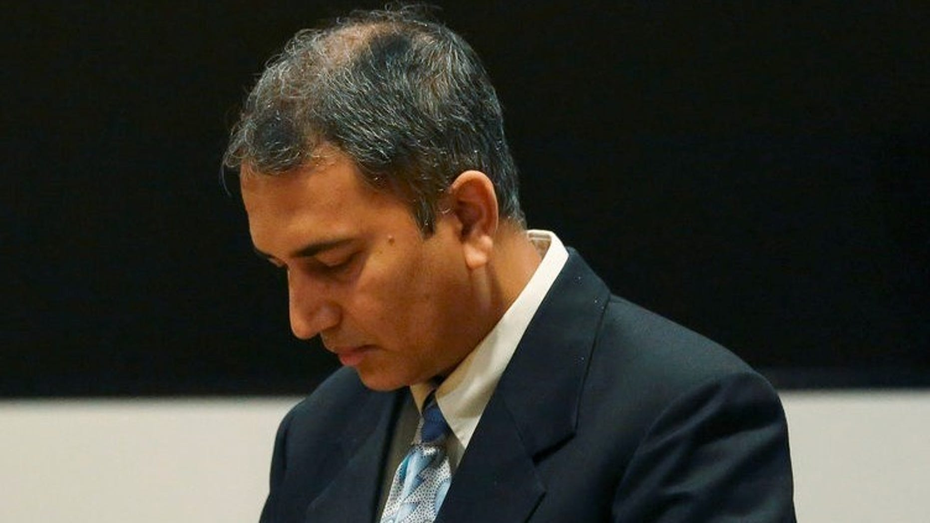 Dr. Shafeeq Sheikh at his sentencing on Friday.