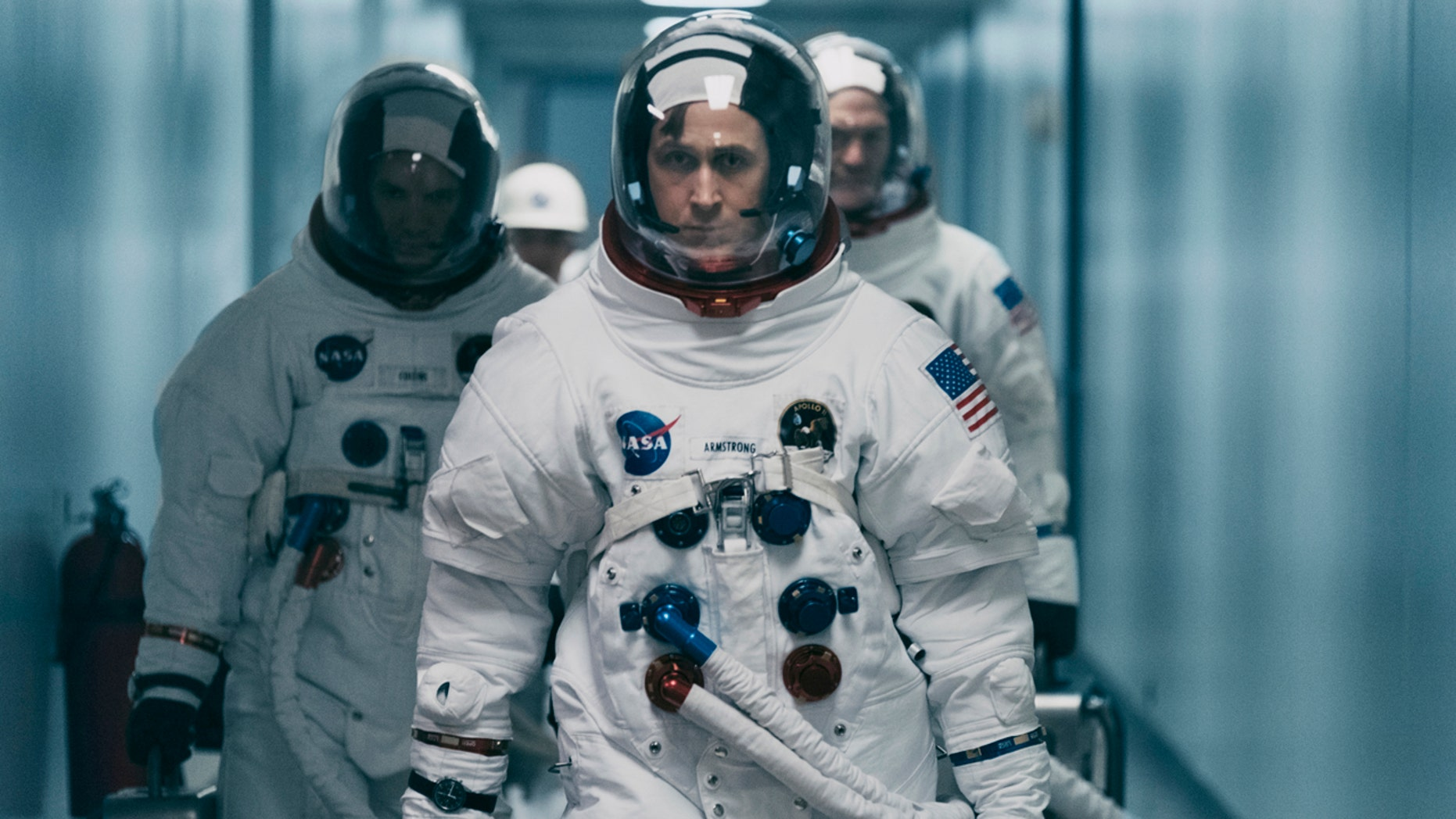 "Ryan Gosling is in a scene from ""First Man."""
