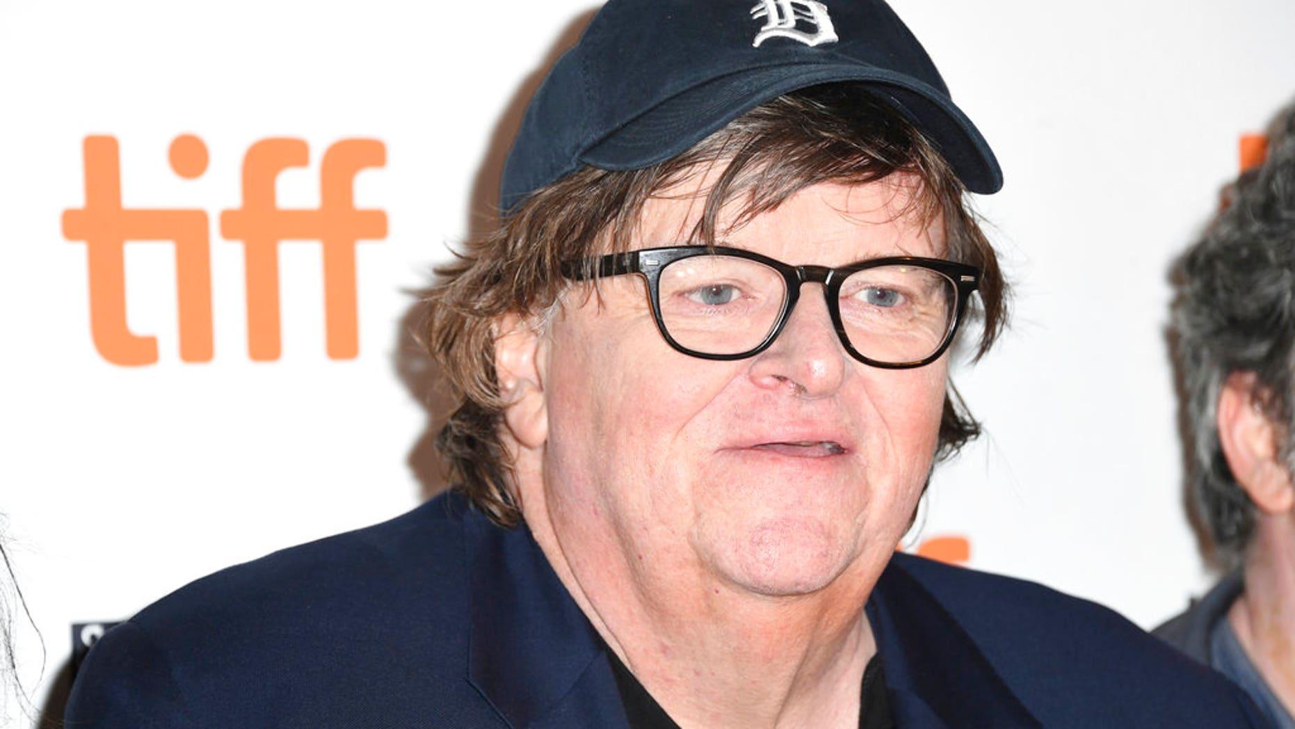 FILE 2018: Filmmaker Michael Moore is attends a premiere in Toronto.