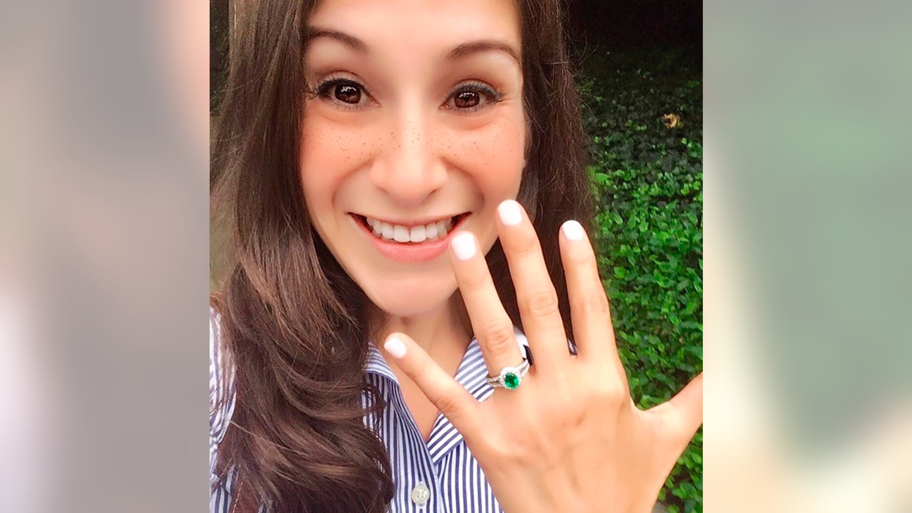 A photo of Wendy Karina Martinez. Police say Martinez, an avid runner who was killed in a residential neighborhood in the nation's capital after recently getting engaged, was likely a random target. Police say on Sept. 20, that a suspect has been arrested in the Tuesday stabbing death of Martinez near Logan Circle in Washington.