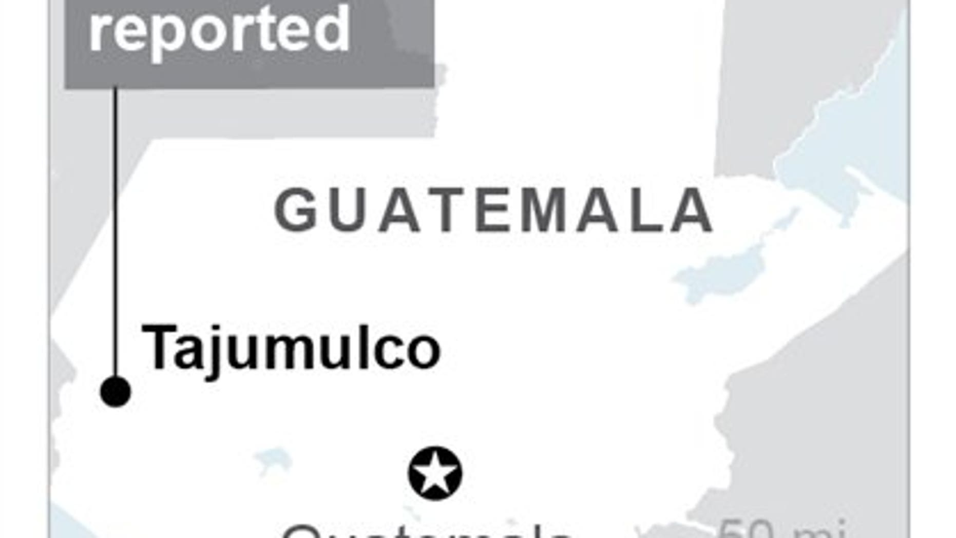 A 6.9-magnitude earthquake struck Tajumulco, Guatemala on Wednesday. (Associated Press)