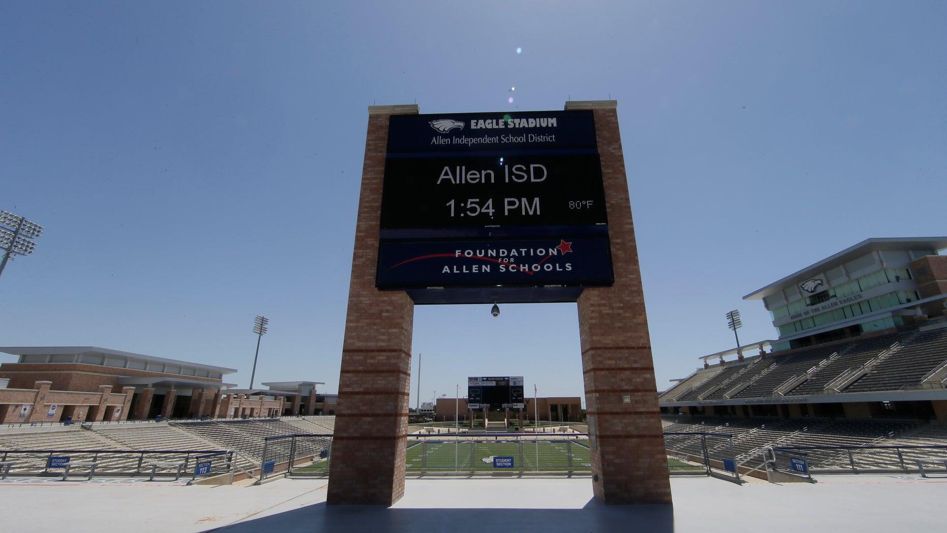 Allen High School Eagle Stadium.