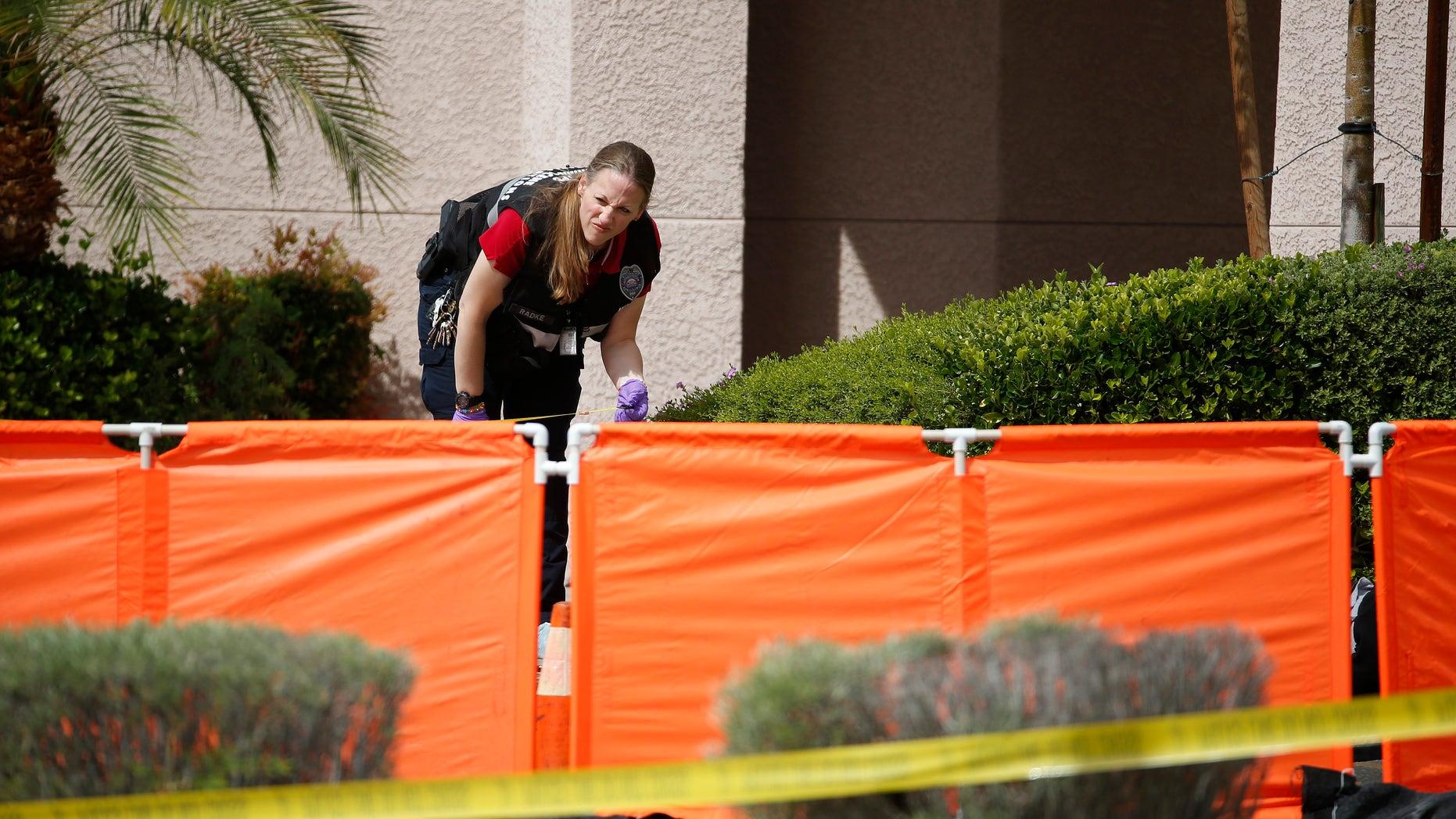 A North Las Vegas investigator at the scene.
