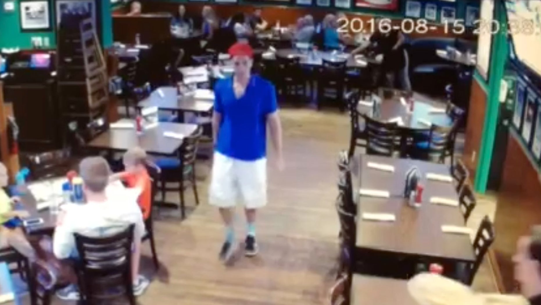 Austin Harrouff leaving a restaurant in Jupiter, Florida before the alleged attack.