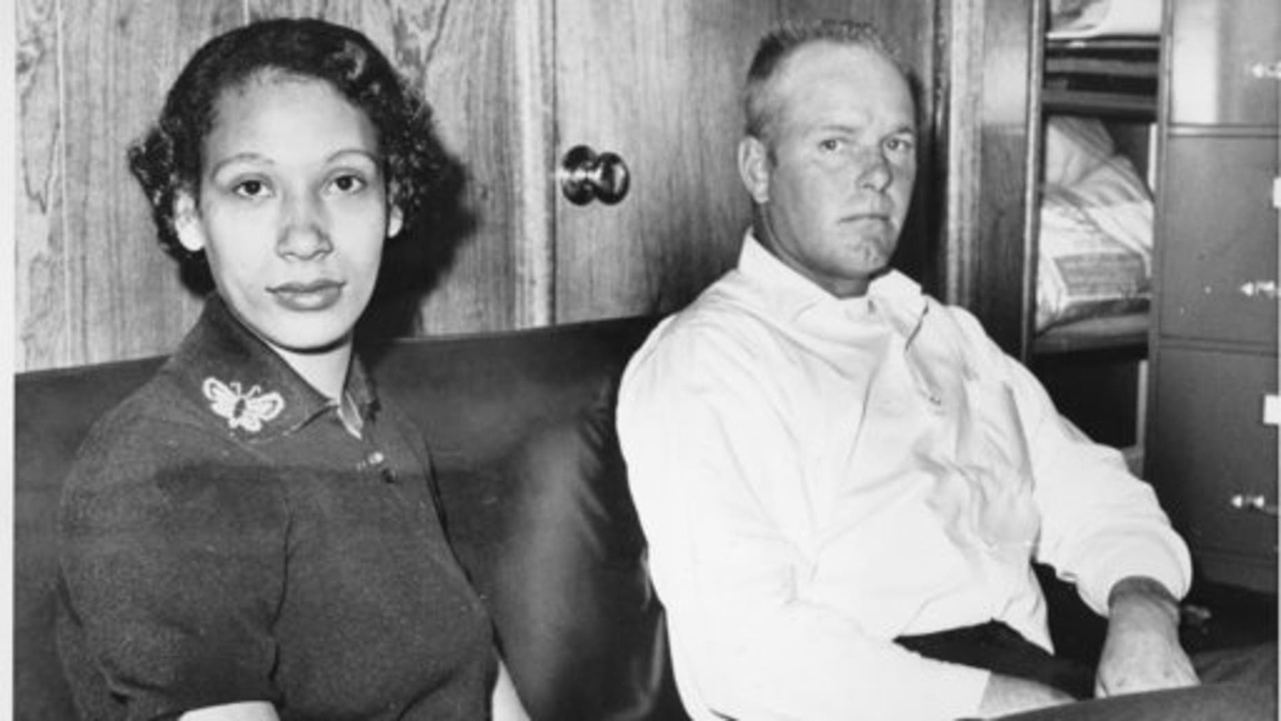 Mildred Loving and her husband, Richard P. Loving, in January 1965.