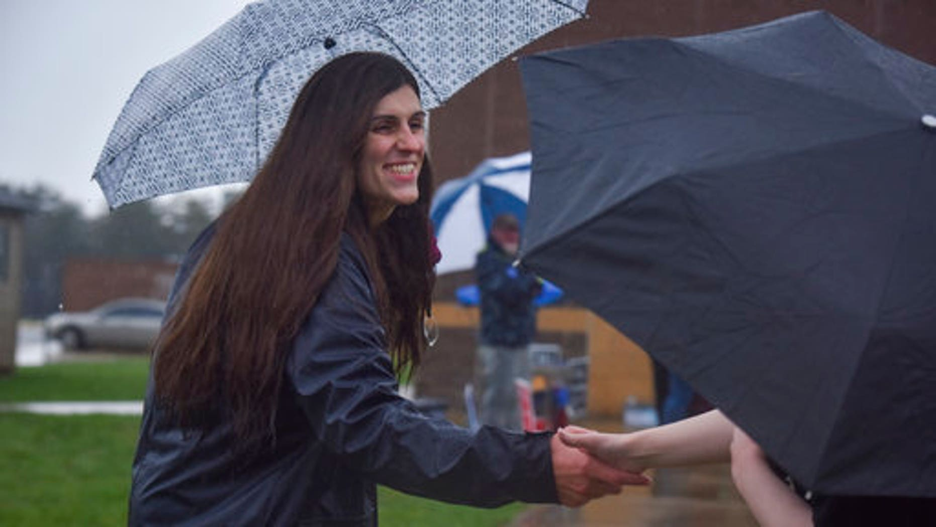 Danica Roem campaigning in Gainesville, Virginia, on Tuesday.