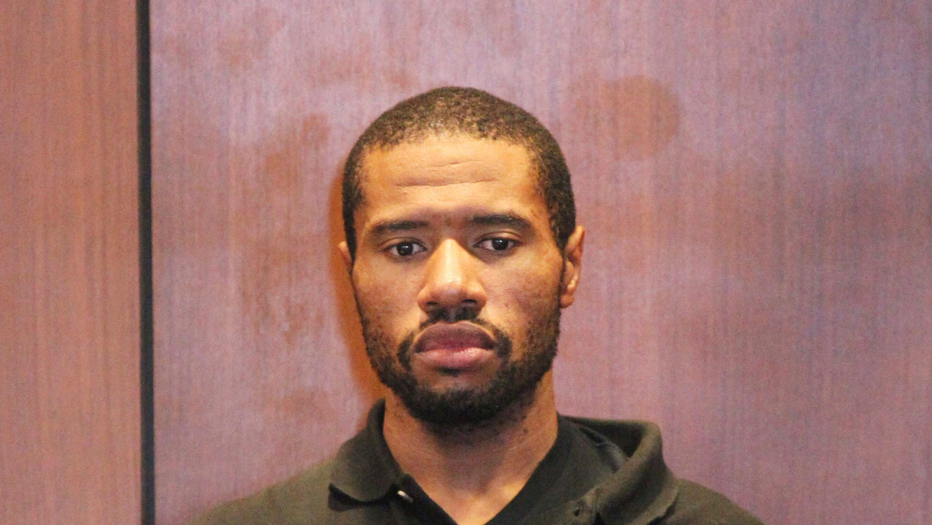 Ali Muhammad Brown appears in court in Essex County, N.J. in August 2014.