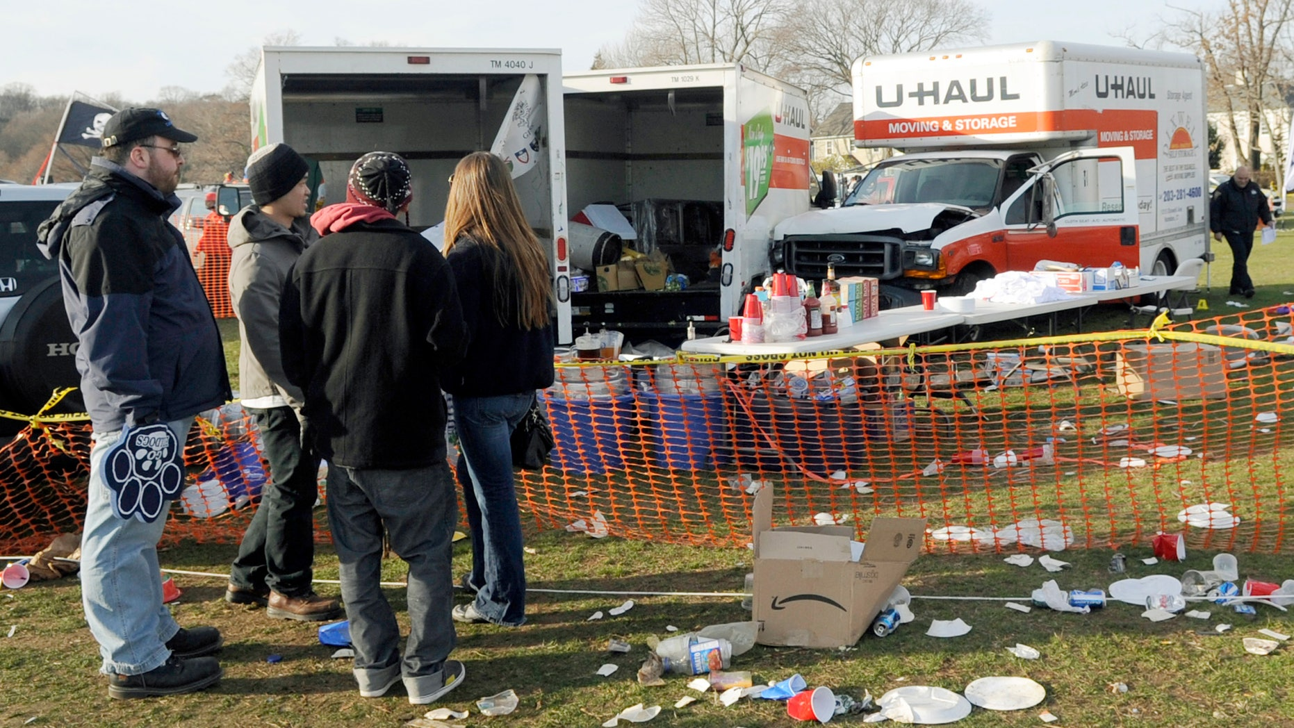The scene of the deadly tailgating incident in 2011.