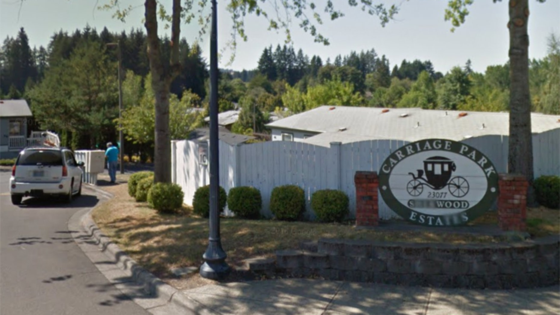 The Carriage Park Estates mobile home community in Sherwood, Ore.