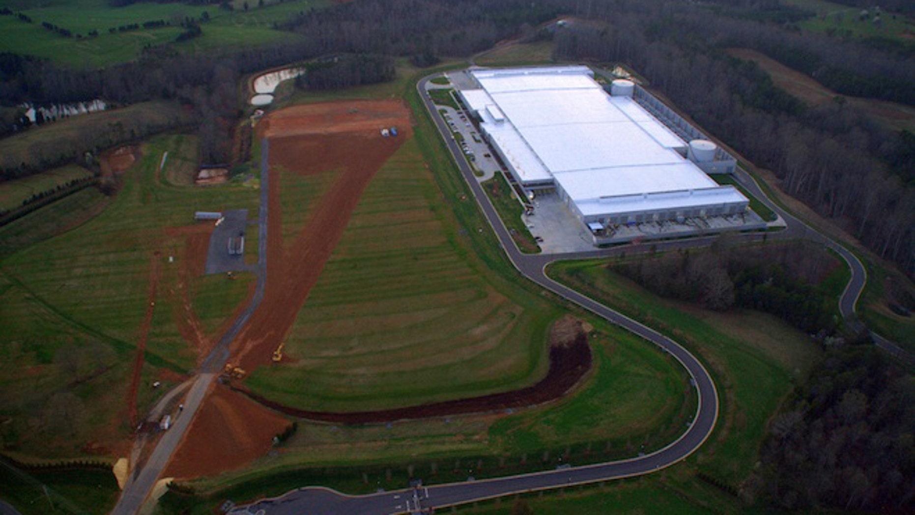 Construction is underway at Apple's Maiden data center in North Carolina.