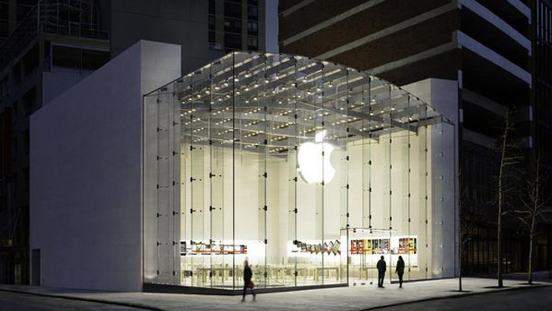 The Apple Store on Broadway in Manhattan's Upper West Side.