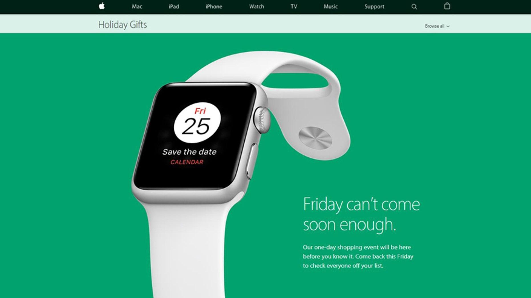(Screenshot from www.apple.com)