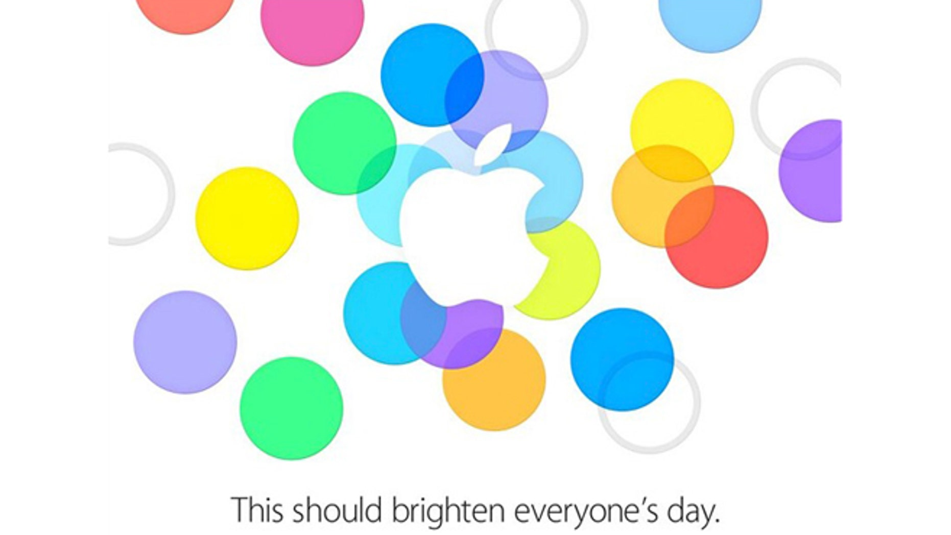 """Apple's invitation to their now confimred September 10 launch date reads, """"This should brighten everyone's day."""""""