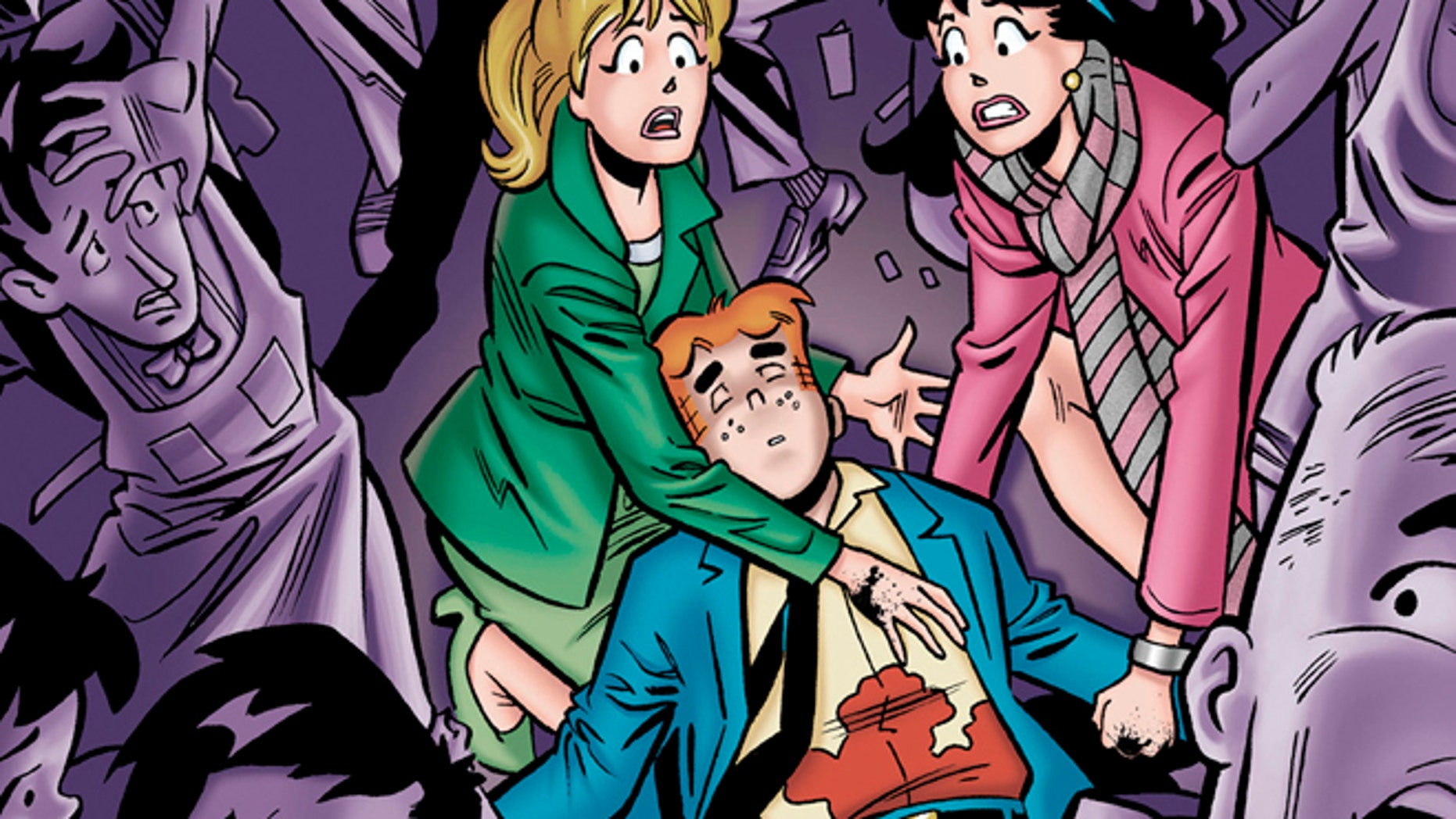 "Archie Comics says the famous comic book character will heroically sacrifice himself while saving the life of a friend in a July 2014 installment of ""Life with Archie."""
