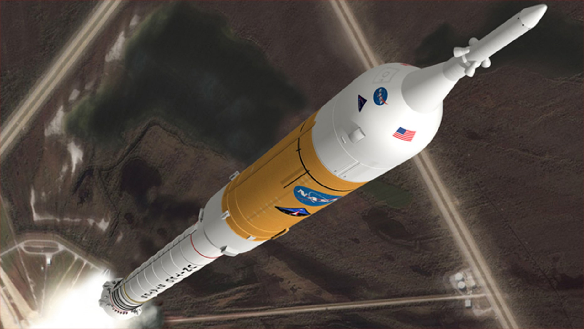 Artist's impression of Ares I launch