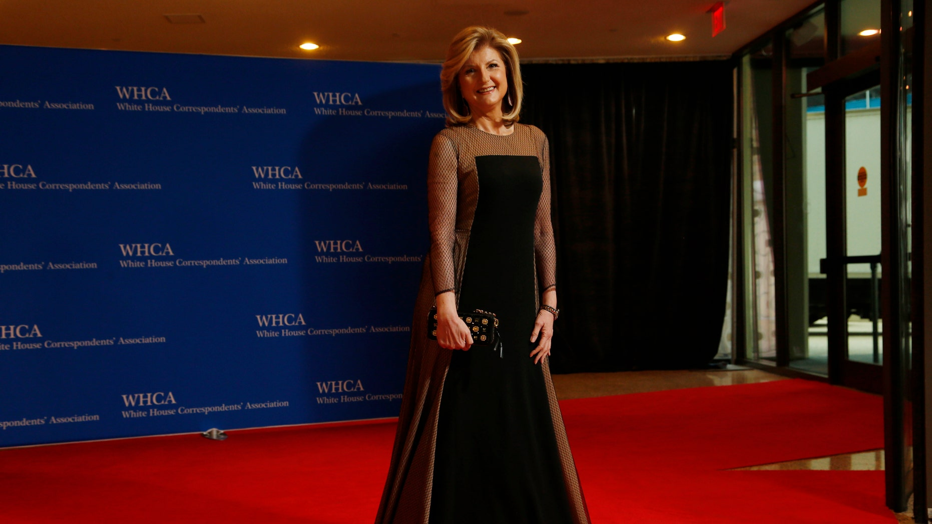 Journalist Arianna Huffington arrives for the annual White House Correspondents' Association dinner in Washington April 25, 2015. REUTERS/Jonathan Ernst  - RTX1A9O4