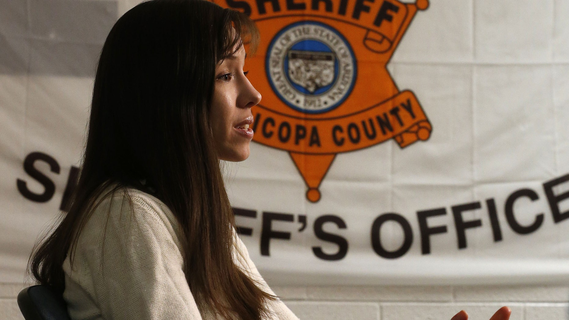 Convicted killer Jodi Arias during an interview at the Maricopa County Estrella Jail on Tuesday, May 21, 2013, in Phoenix.