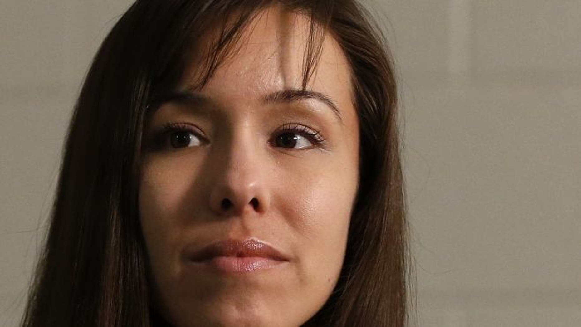 FILE: May 21, 2013: Convicted killer Jodi Arias thinks about a question asked during an interview at the Maricopa County Estrella Jail in Phoenix.