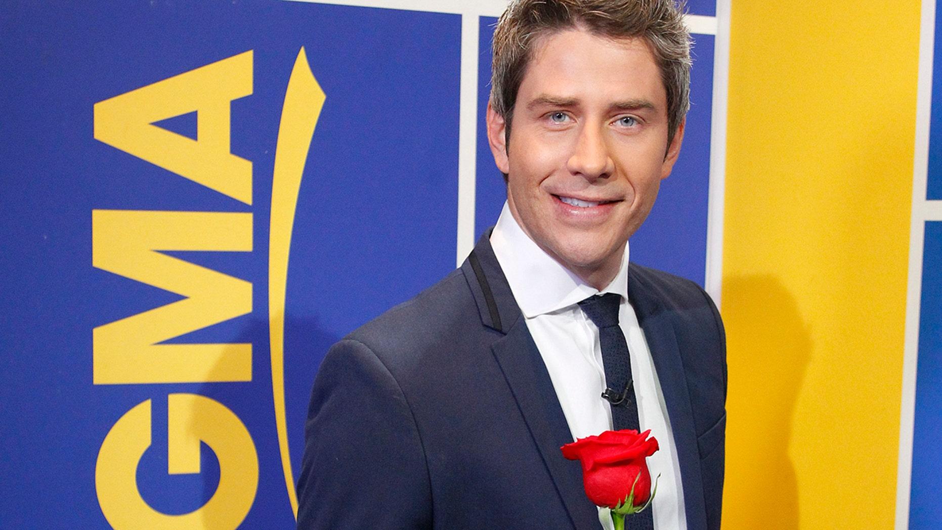 "Arie Luyendyk Jr. is announced as the new star of ABC's ""The Bachelor"" on ""Good Morning America,"" Thursday, September 7, 2017.(ABC/Lou Rocco)  ARIE LUYENDYK JR."