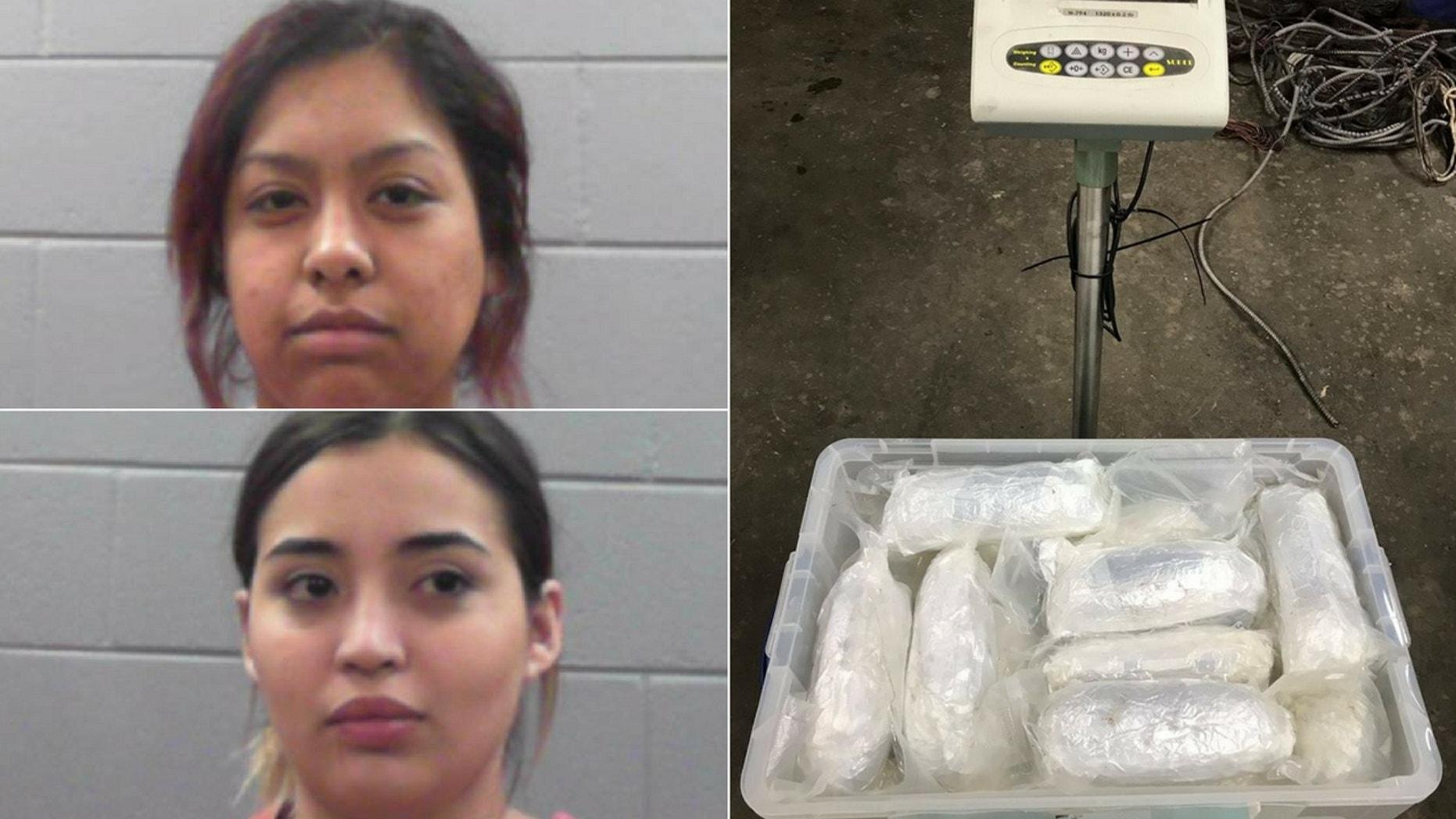 Trisha Lynne Ibarra (top) and Trisha Lynne Ibarra (bottom) were caught with $10 million worth of heroin inside their car.