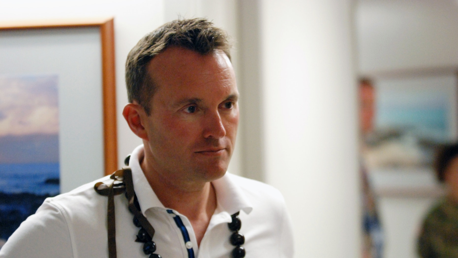 Secretary of the Army Eric Fanning tours Tripler Army Medical Center in Honolulu, Wednesday, July 27, 2016. Fanning says the Army is paying more attention to behavioral health and making sure anyone who's injured while defending the nation gets the treatment they need. He says the Army and other military branches are conducting research into how military deployment effects anger. (AP Photo/Cathy Bussewitz)