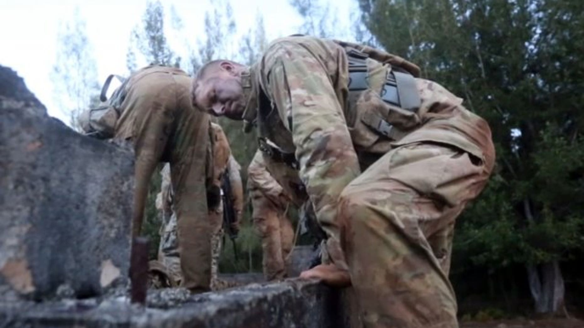 Soldiers with the 25th Infantry Division in Hawaii tackle obstacles in February 2017, while evaluating a new, lighter weight uniform. (U.S. Army photo )
