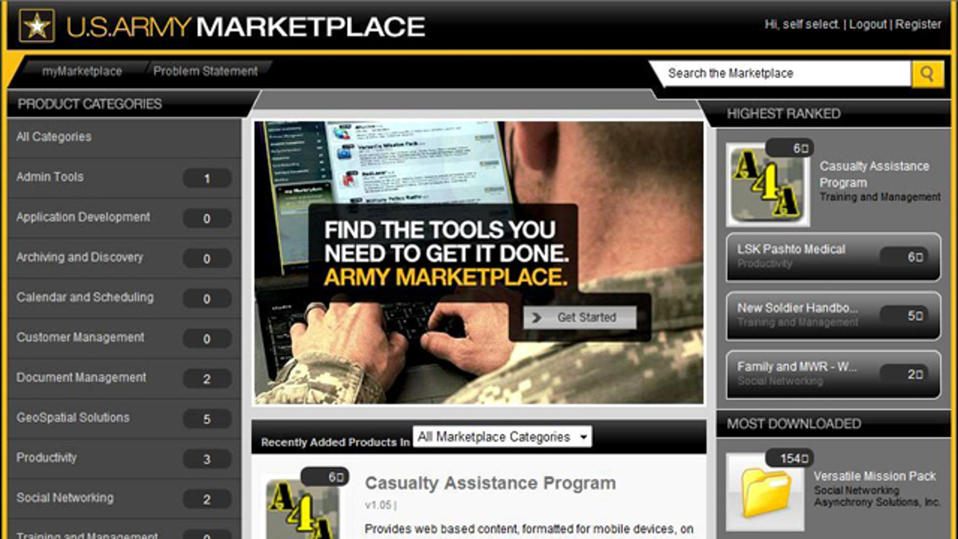 """The Army's new app marketplace is part of a systemwide """"software transformation."""""""