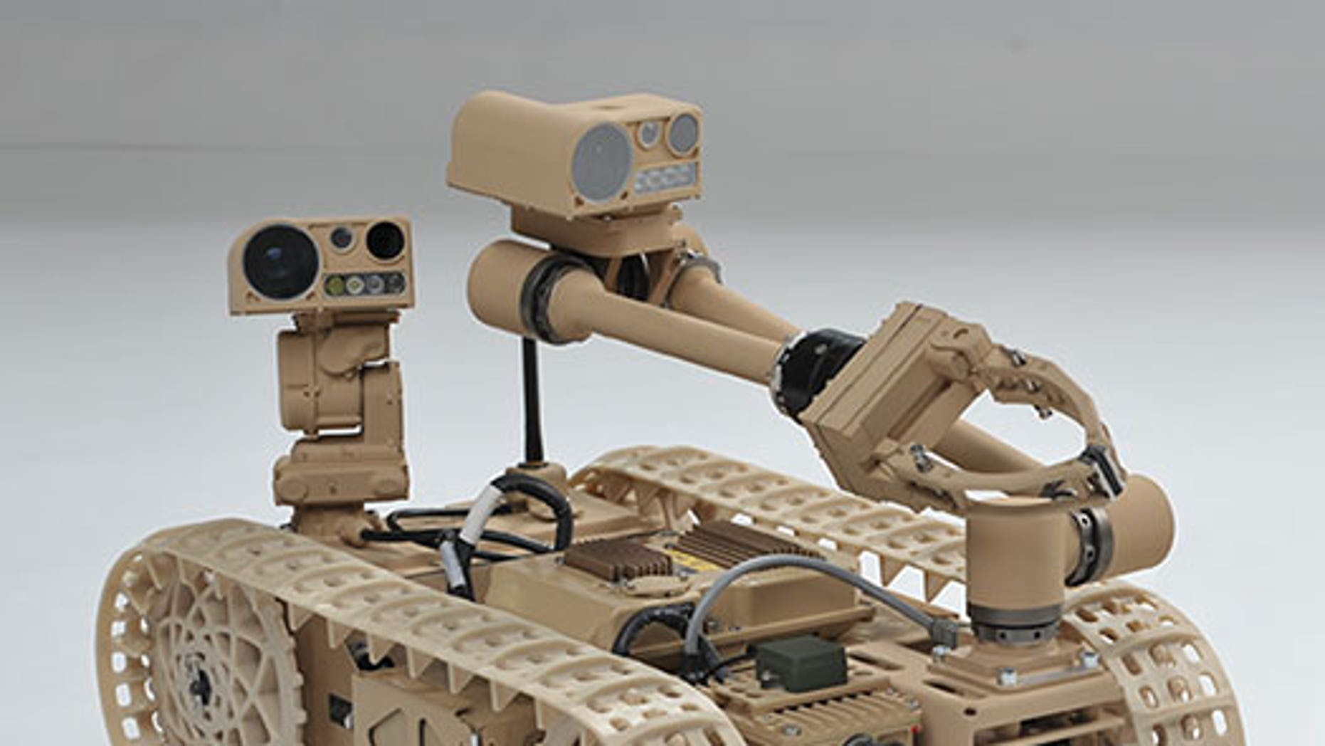 """Researchers have been exploring """"self-righting"""" techniques using the Advanced Explosive Ordnance Disposal Robotic System (AEODRS). (Photo Credit: Courtesy Northrop Grumman Corporation)"""