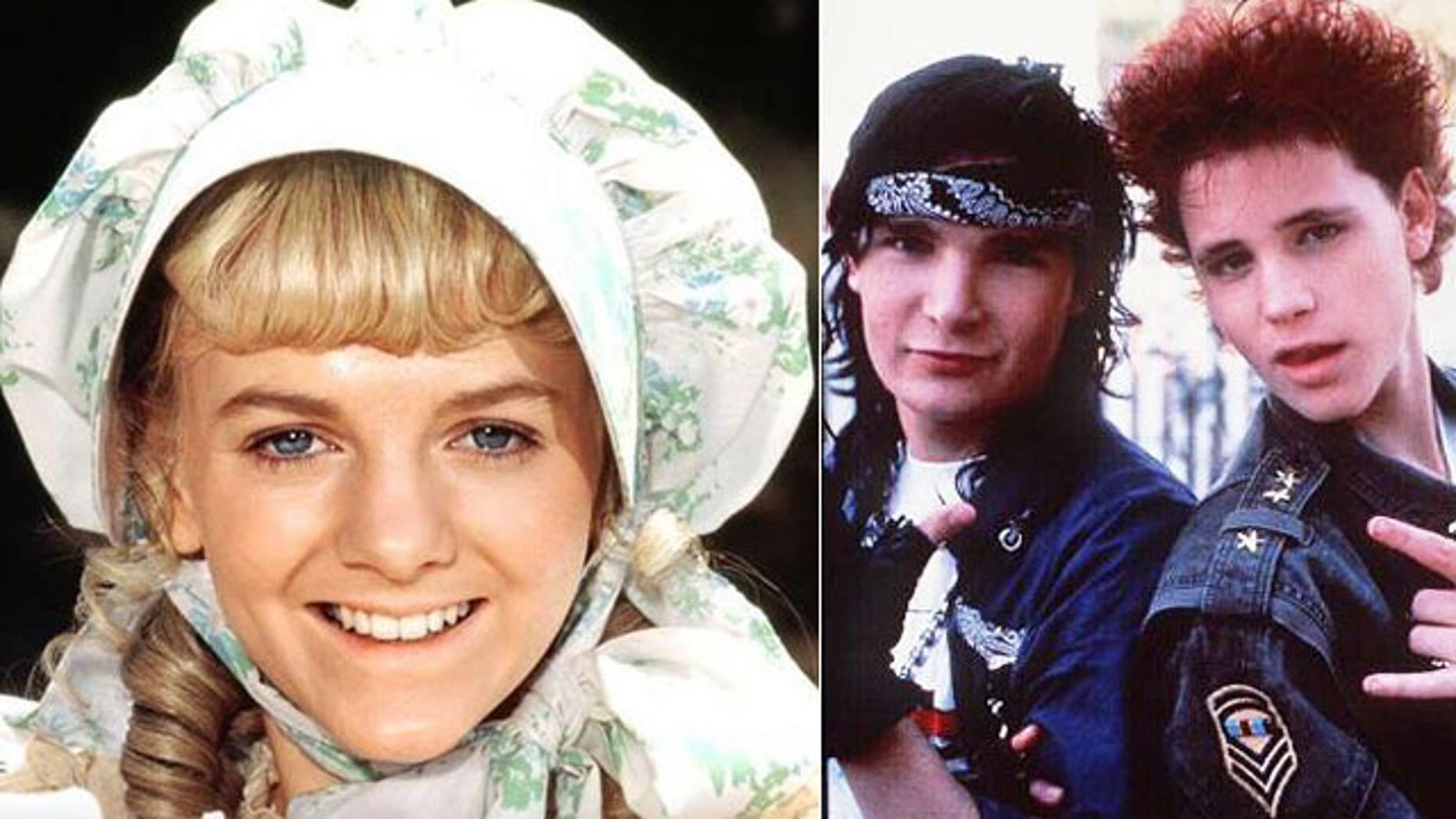 "Allison Arngrim (left) starred on 'Little House on the Prairie."" She said stories about Corey Feldman and Corey Haim (right) being abused as child stars were common in the 1980s and 90s."