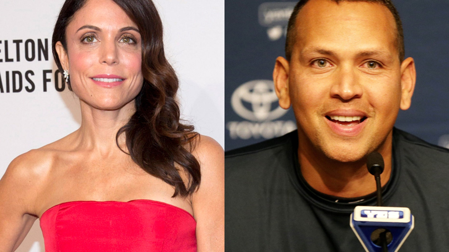 """Real Housewives of New York City"" star Bethenny Frankel (left) and former Yankees player Alex Rodriguez."