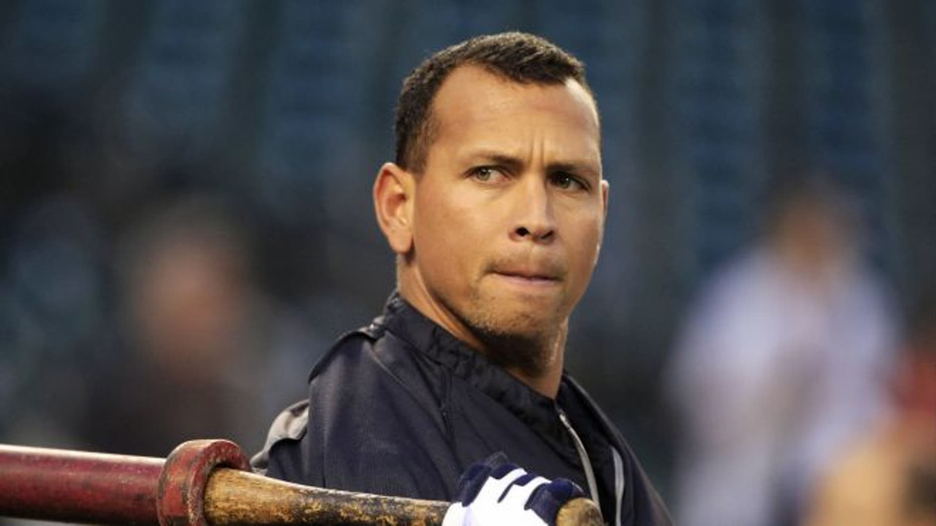 Oct. 17, 2012: New York Yankees' Alex Rodriguez takes batting practice before Game 4 of the American League championship series against the Detroit Tigers, in Detroit.