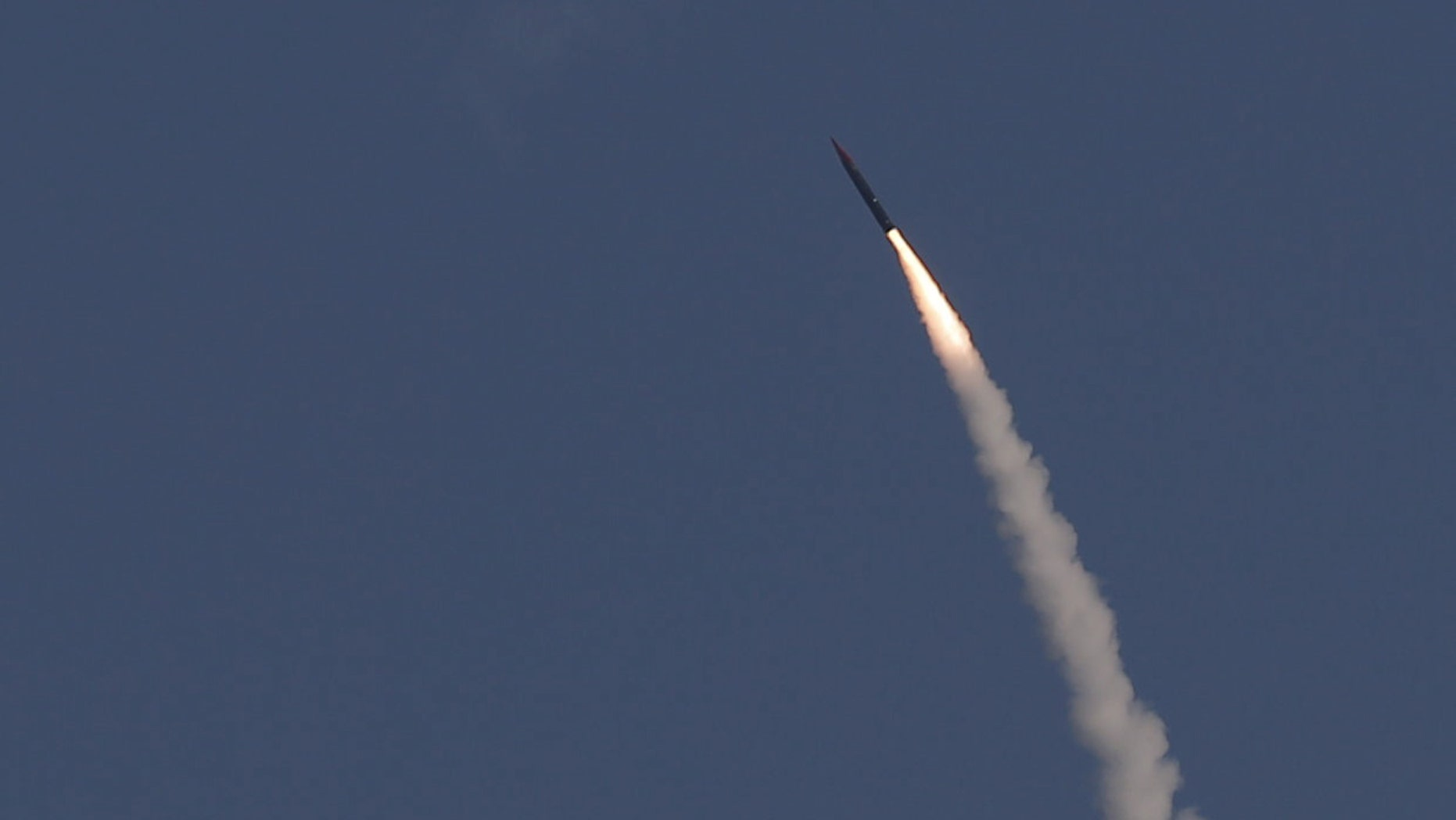 "File photo - An ""Arrow 3"" ballistic missile interceptor is seen during its test launch near Ashdod December 10, 2015. (REUTERS/Amir Cohen)"