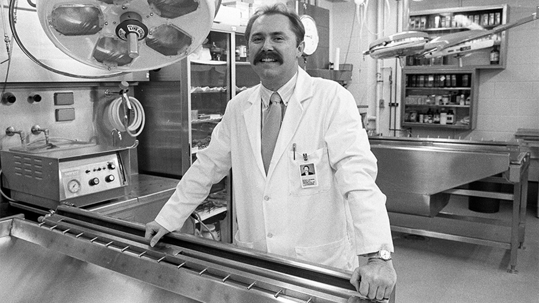 Arthur Rathburn at the University of Michigan in Ann Arbor, Michigan, U.S. in November 1988.