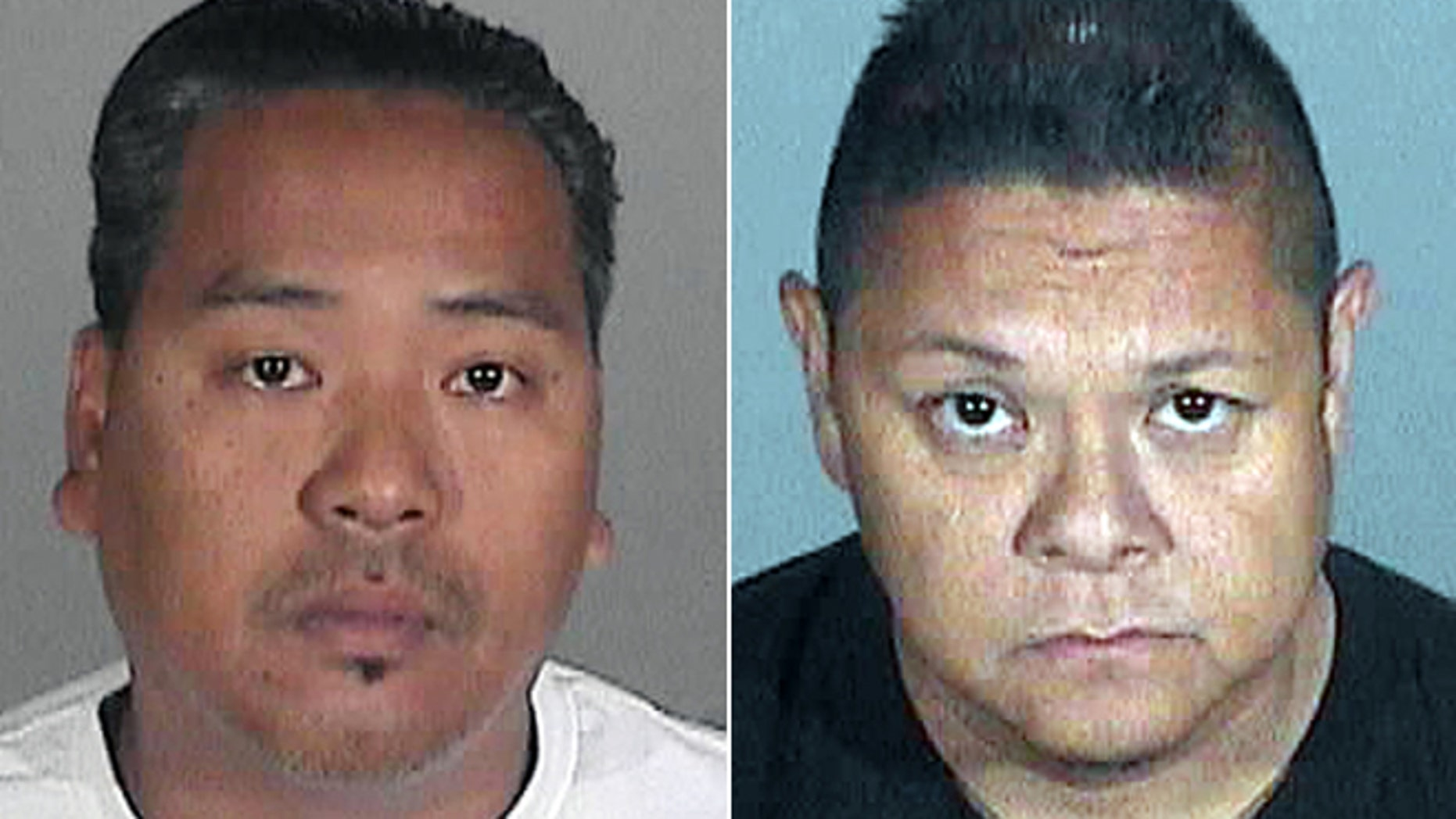 Sept. 26, 2012: This photo provided by the Santa Monica Police Department shows suspects Wilmer Cadiz, left, and Jay Nieto, right, who was arrested in Santa Monica, Calif., on suspicion of stealing paintings from the home of a Santa Monica financier.