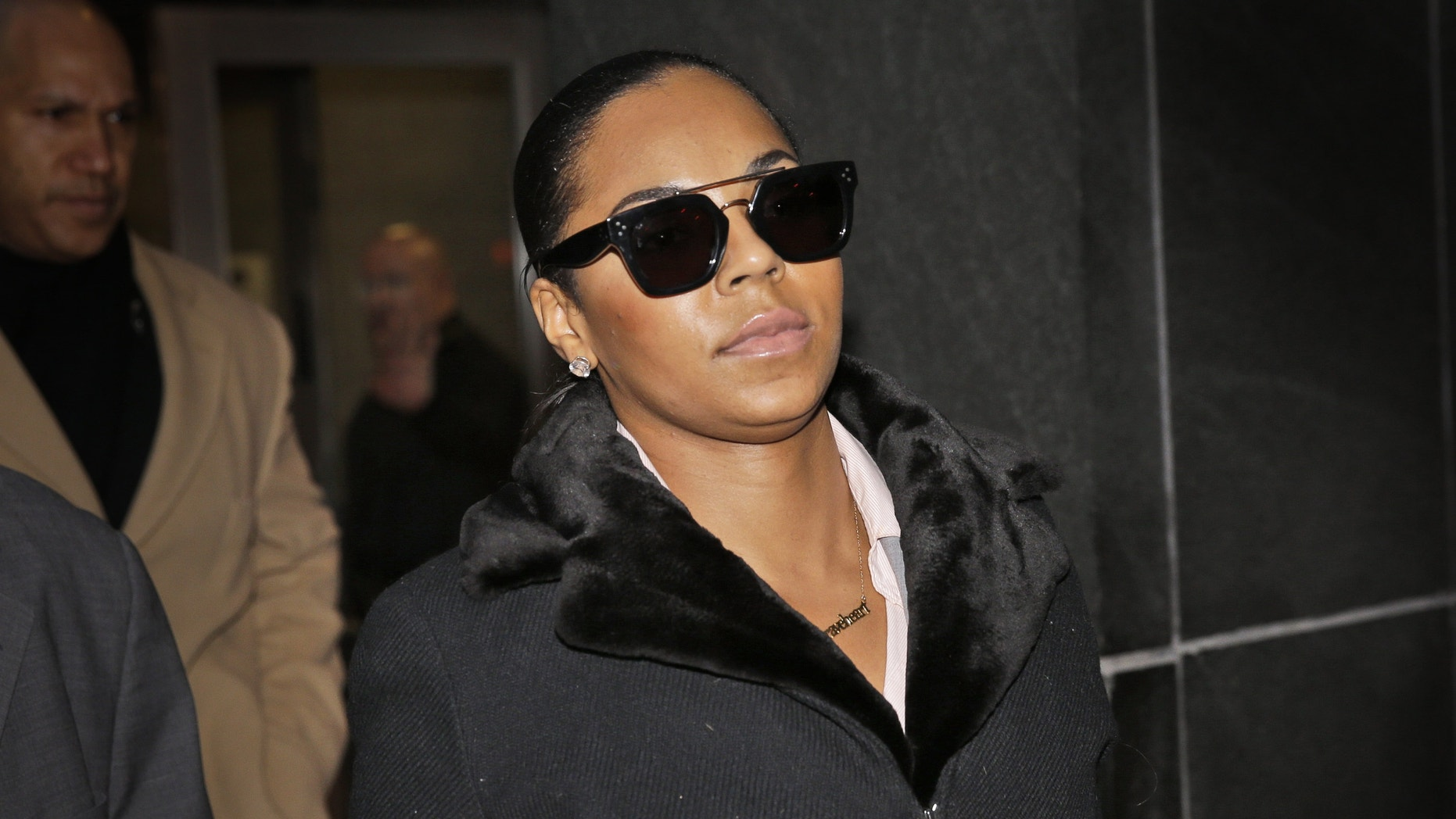Dec 16, 2014. Singer Ashanti leaves the courthouse after testifying at Devar Hurd's trial in New York.