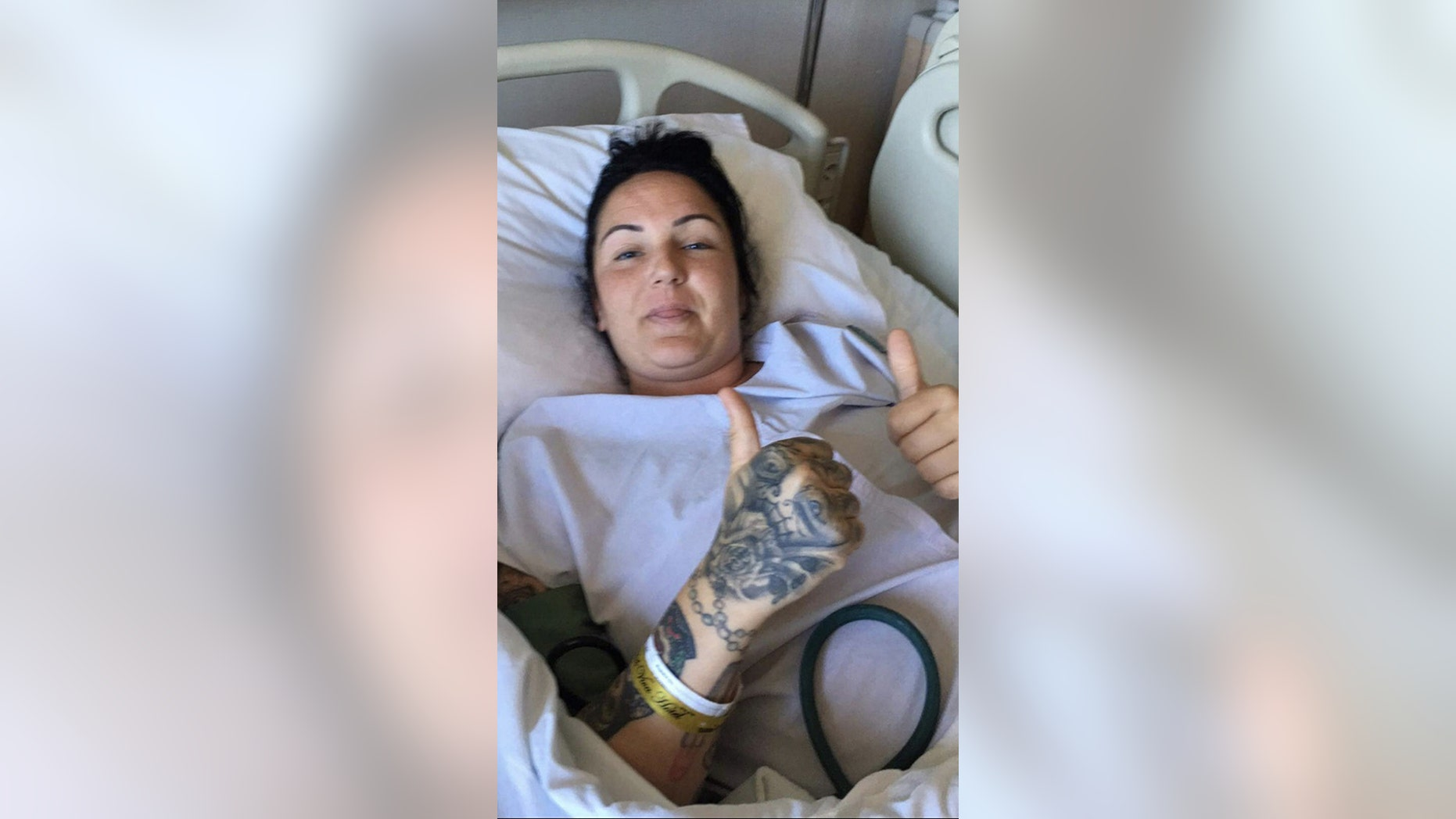 Donnelly reportedly suffered an seven-inch tear from the blast that required hundreds of stitches.