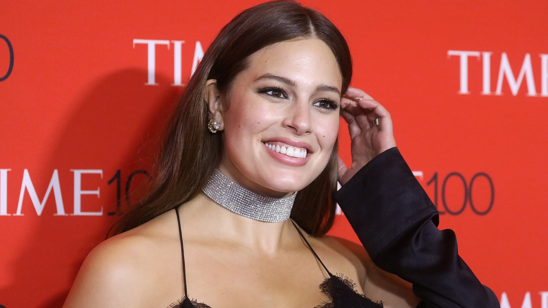 Model Ashley Graham arrives for the Time 100 Gala in the Manhattan borough of New York, New York, U.S. April 25, 2017.