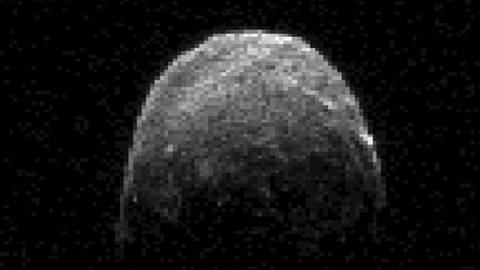 Nov. 7, 2011: This radar image of asteroid 2005 YU55 shows the space rock 3.6 lunar distances, which is about 860,000 miles, or 1.38 million kilometers, from Earth.