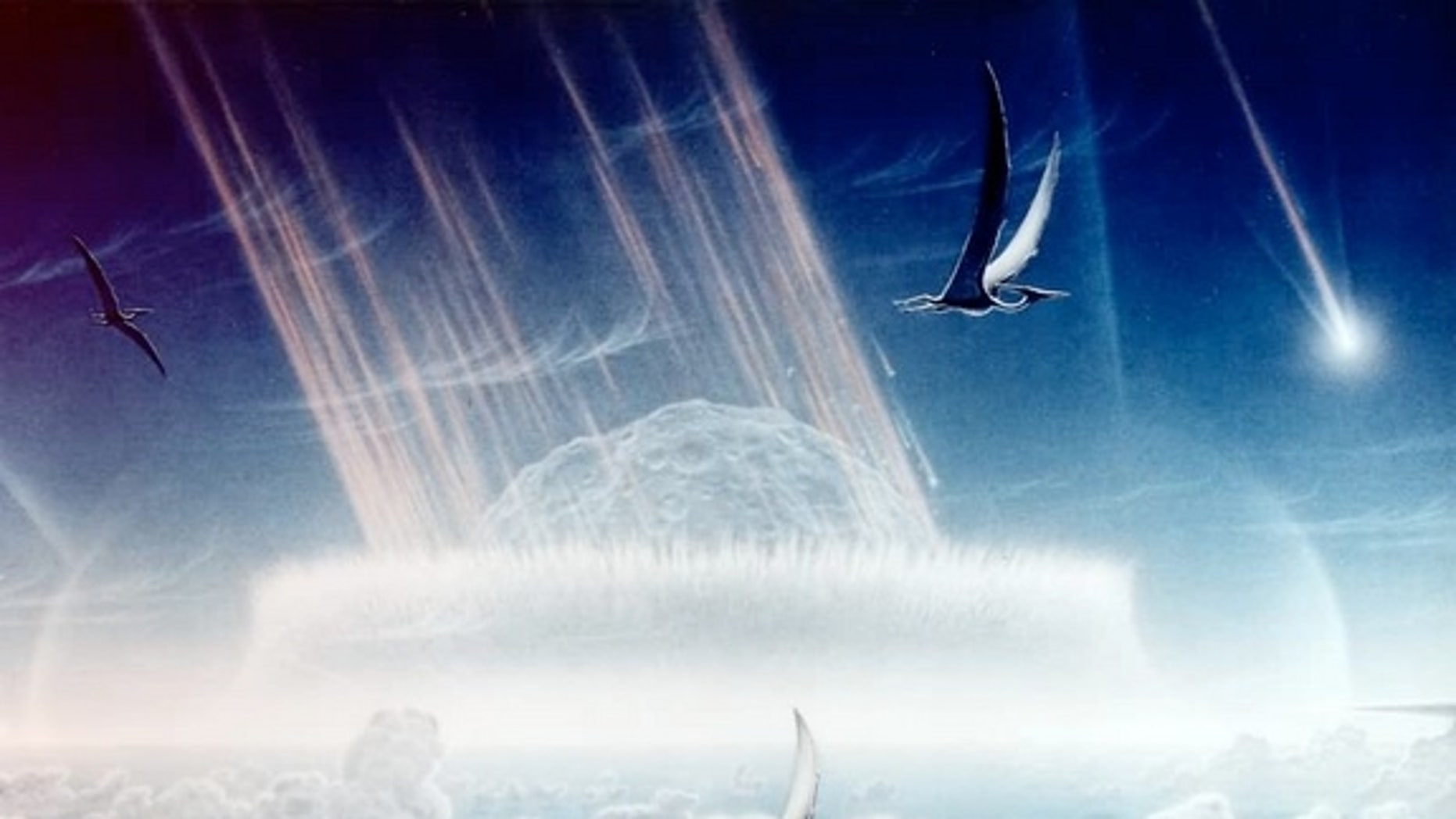 A giant space rock that slammed into Earth 65.5 million years ago is blamed for killing off the dinosaurs.