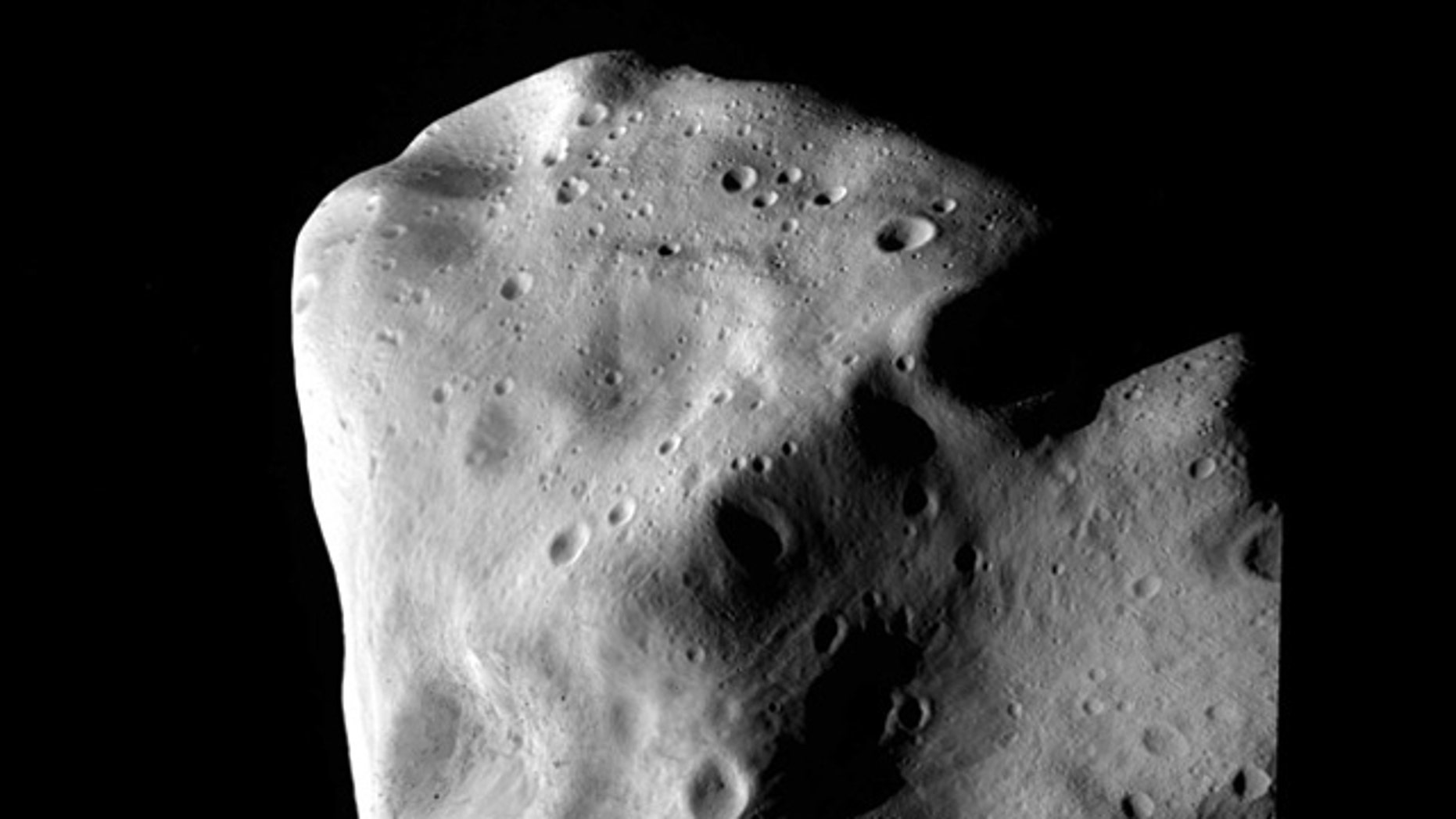 The asteroid Lutetia at closest approach.