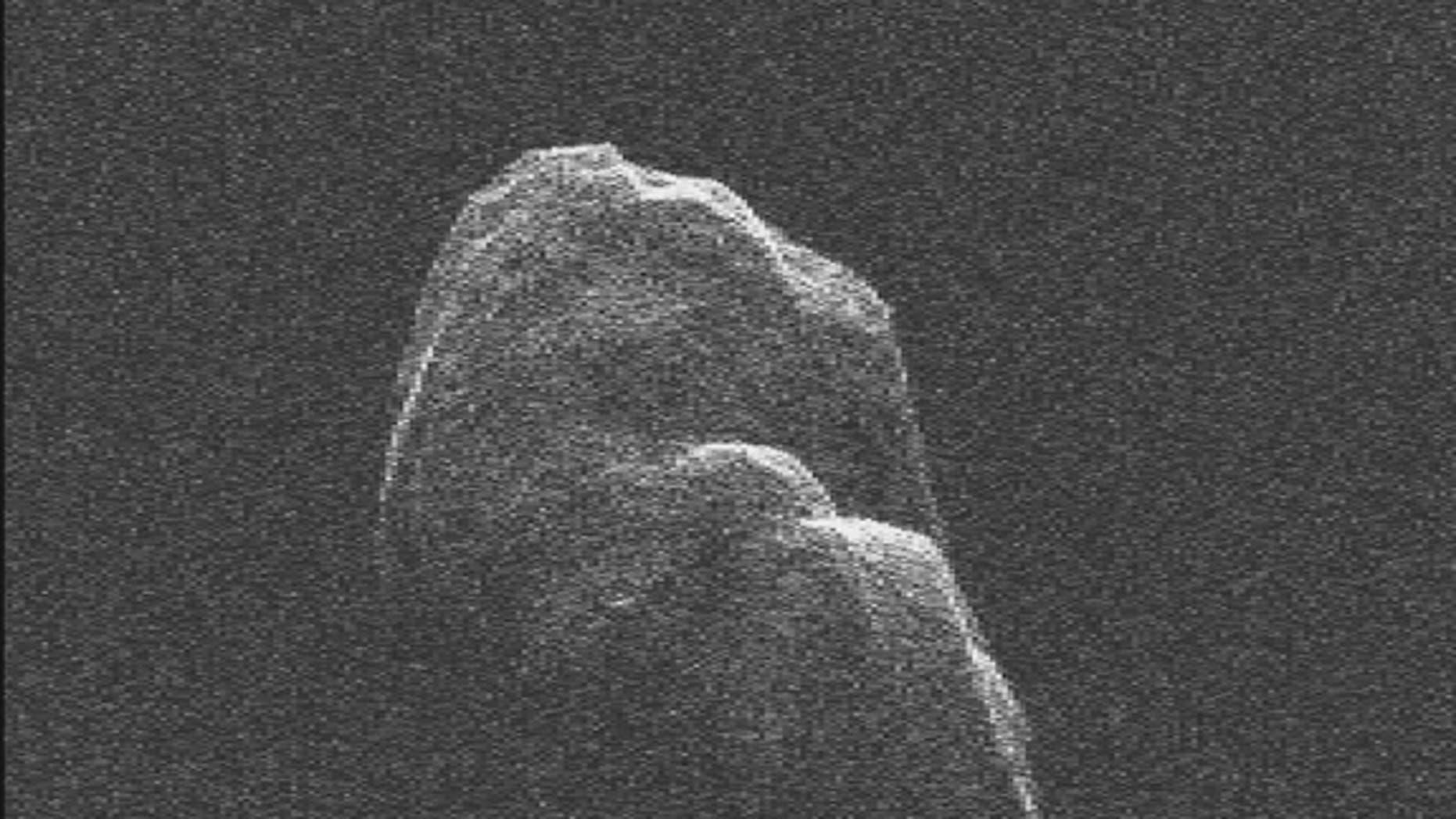 Radar imagery of asteroid Toutatis taken by NASA's Goldstone Solar System Radar on Dec. 12 and 13, 2012
