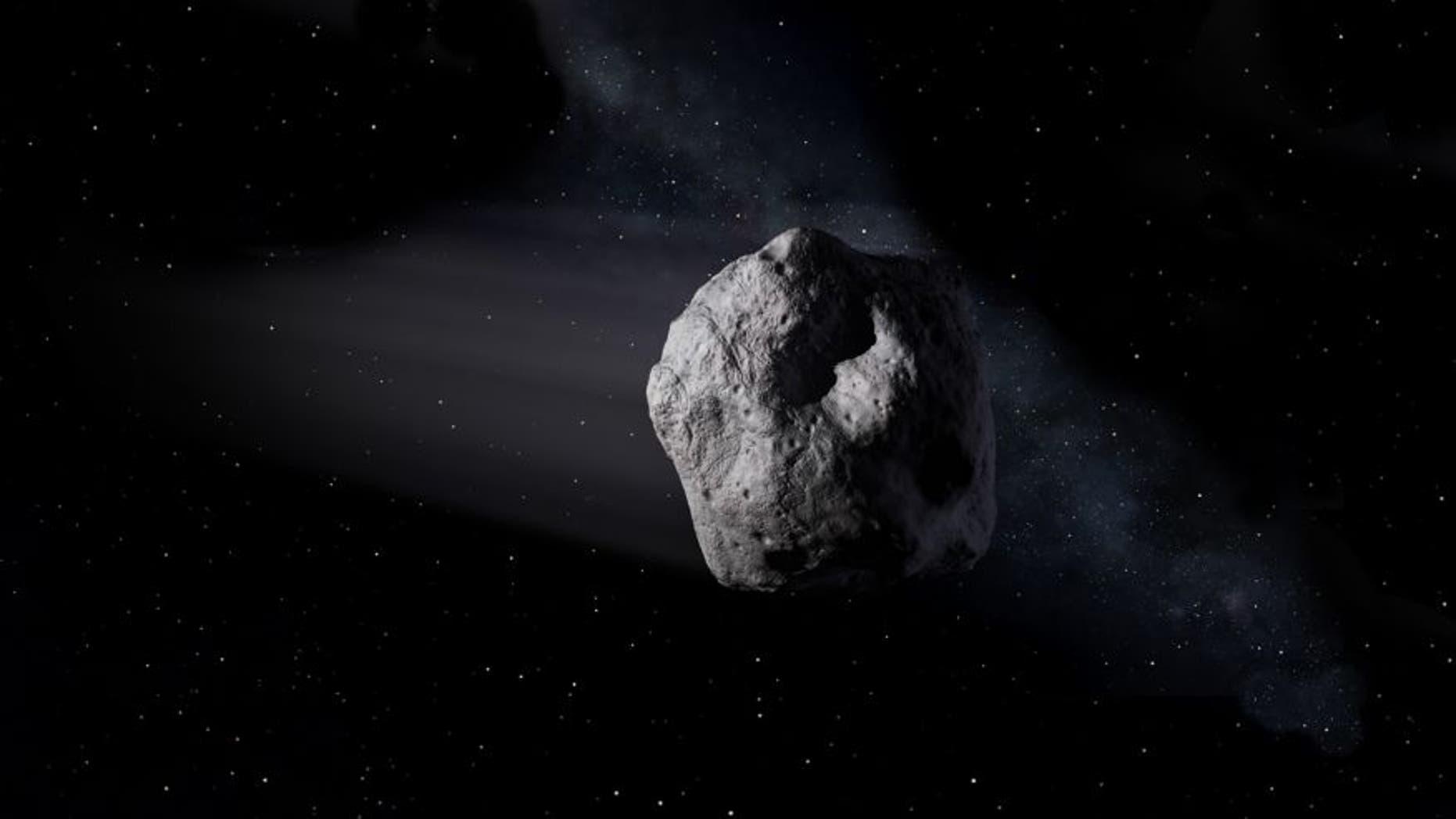 Artist's concept of a near-Earth object. Image credit: (NASA/JPL-Caltech)
