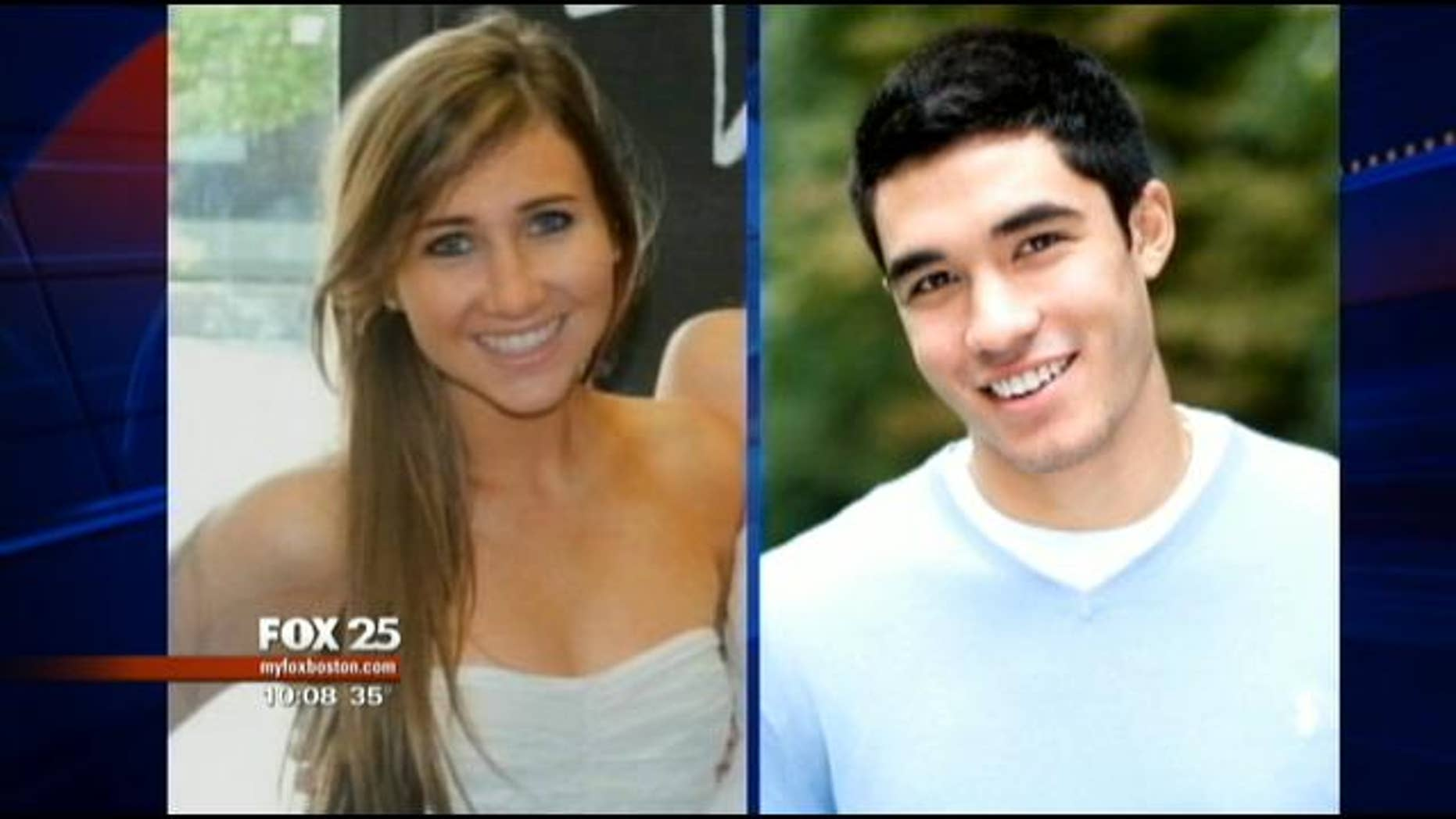 Nathanial Fujita, right, is charged with strangling and stabbing Lauren Astley, left, in July 2011