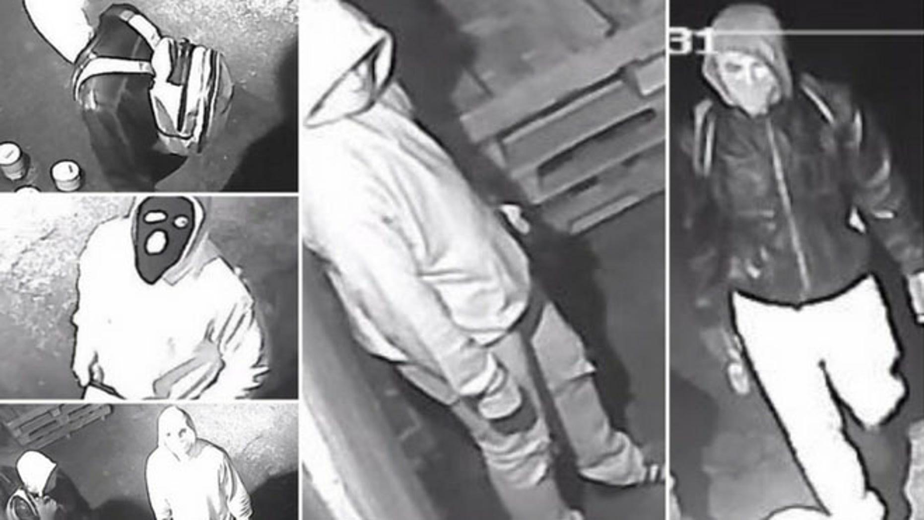 Surveillance footage caught three individuals trying to burglarize a Whitehall, Pa., gun shop on Feb. 23.