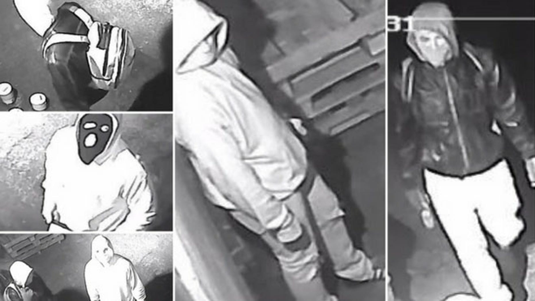 Surveillance footage caught three individuals trying to burglarize a Whitehall, Pa., gun shop on Feb. 23.