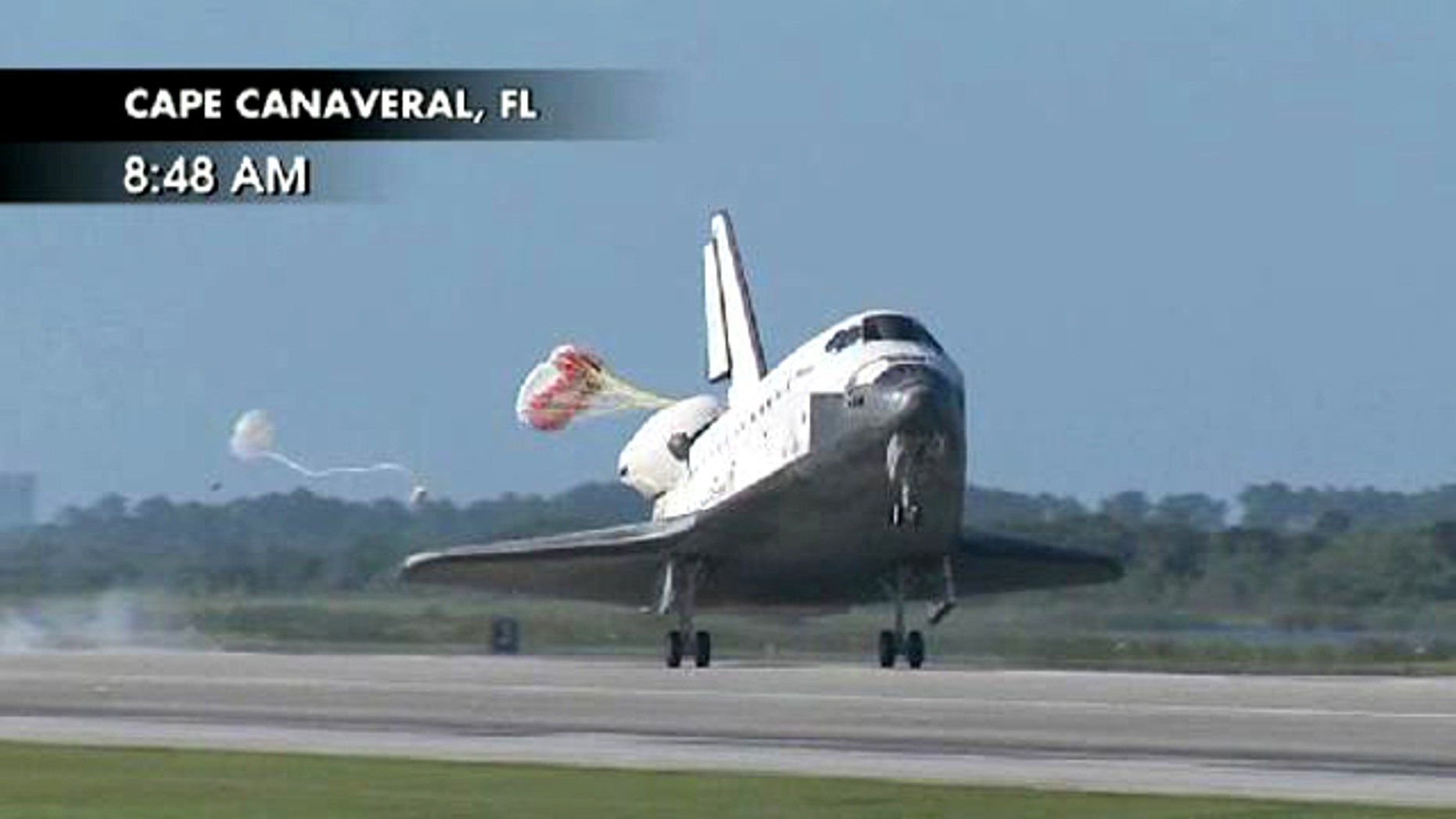 Atlantis touches down at Kennedy Space Center in Florida, concluding its final mission to the International Space Station.