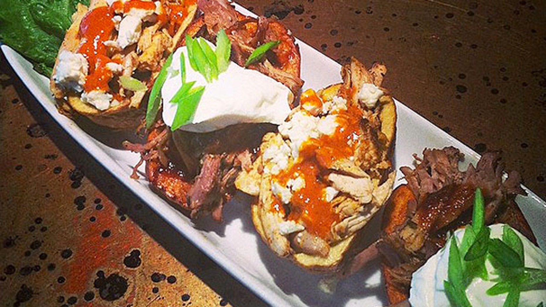 Proceeds for Atomic Grill's potato skin special will go to the West Virginia Foundation for Rape Information Services.
